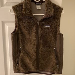 PATAGONIA retro x fleece vest in brown size M